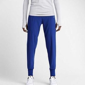 NIKE woven loose running pants royal blue